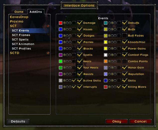Scrolling Combat Text : Combat Mods : World of Warcraft AddOns