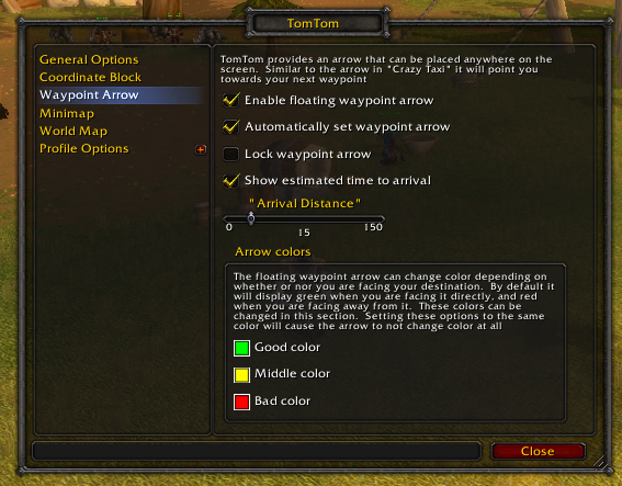 TomTom : Map, Coords, Compasses : World of Warcraft AddOns
