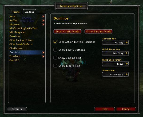 Dominos : Action Bar Mods : World of Warcraft AddOns