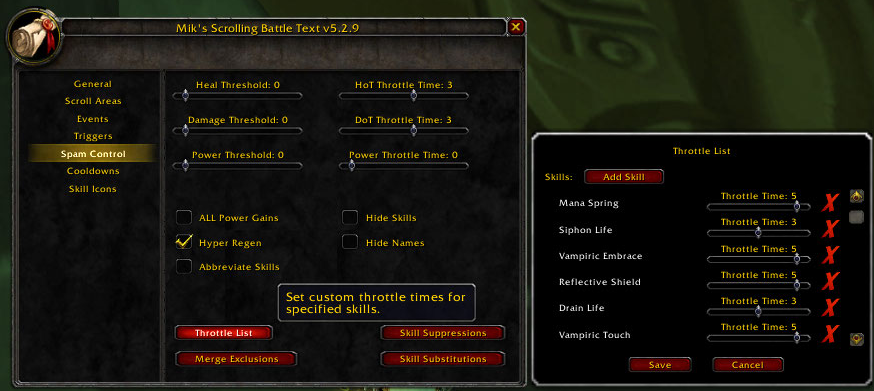 MikScrollingBattleText : Combat Mods : World of Warcraft AddOns