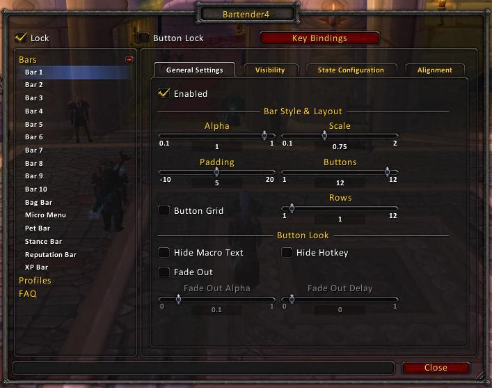 Bartender4 : Action Bar Mods : World of Warcraft AddOns