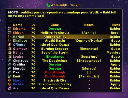 Ara Broker Guild Friends : Data Broker : World of Warcraft