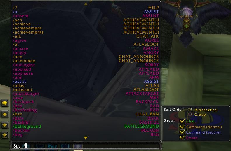 SlashHelp : Chat Mods : World of Warcraft AddOns
