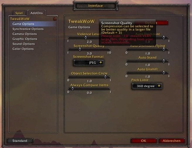TweakWoW : Miscellaneous : World of Warcraft AddOns