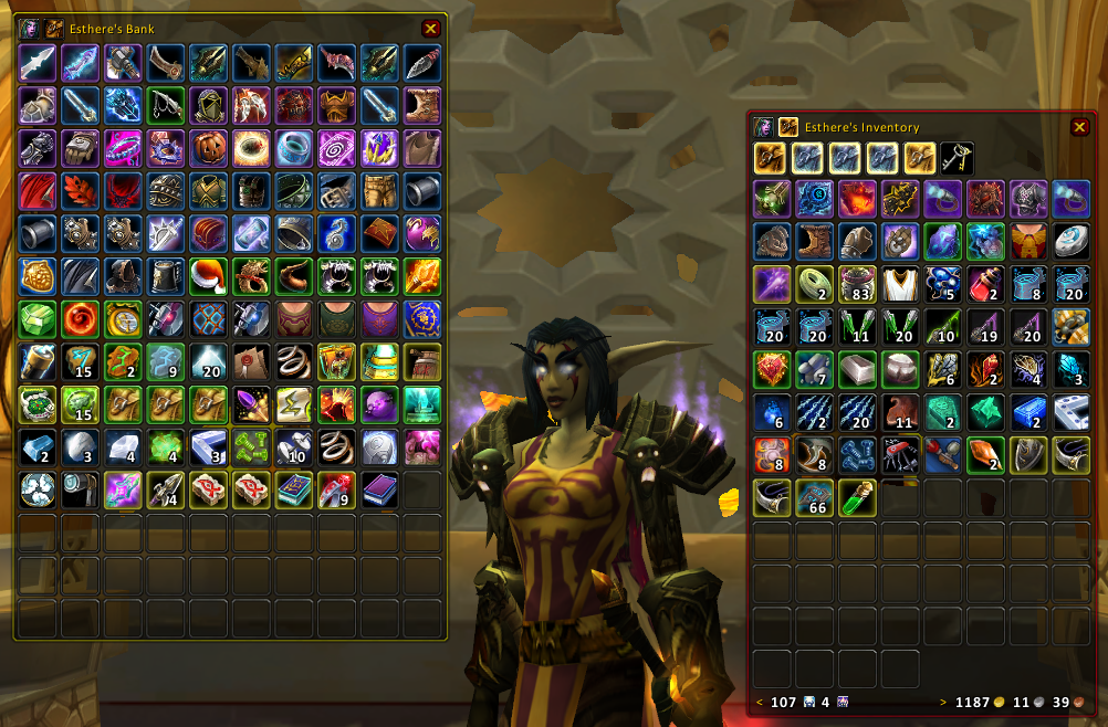 Bagnon : Bags, Bank, Inventory : World of Warcraft AddOns