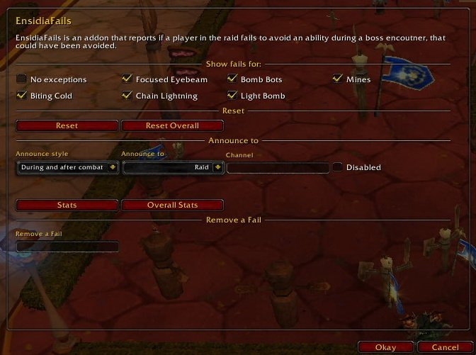 Ensidiafails Raid Mods World Of Warcraft Addons
