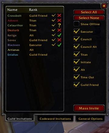 Raid Invite Organizer Group Guild Friends World of Warcraft