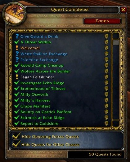 classes in wow