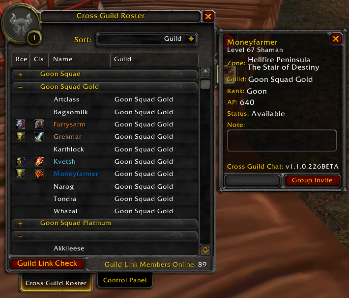 Cross Guild Chat : Chat Mods : World of Warcraft AddOns