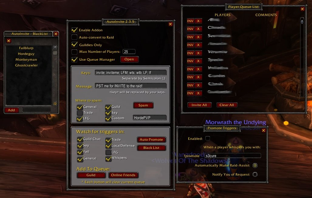 Autoinvite By Martag Group Guild Friends World Of Warcraft