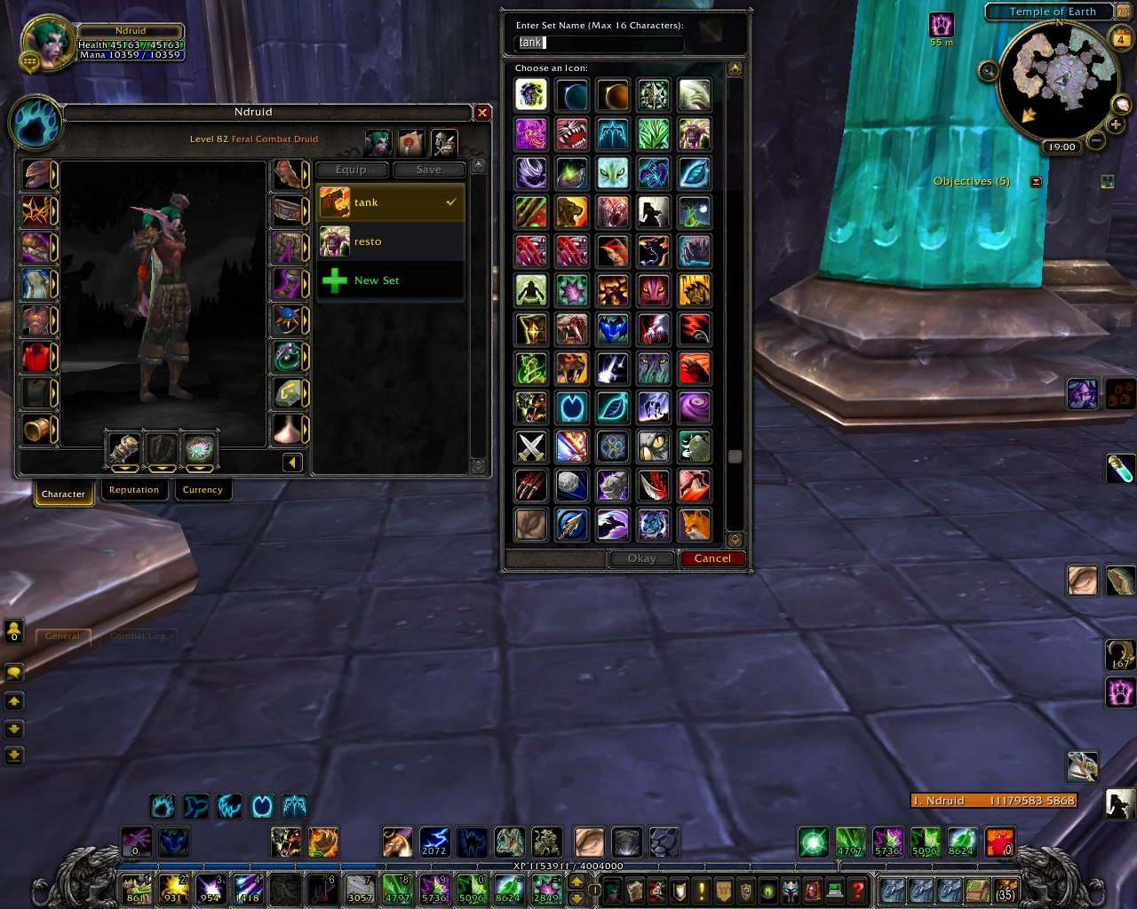 GearManager More Icons : Bags, Bank, Inventory : World of Warcraft