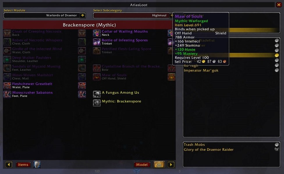 AtlasLoot Enhanced : Data Mods : World of Warcraft AddOns