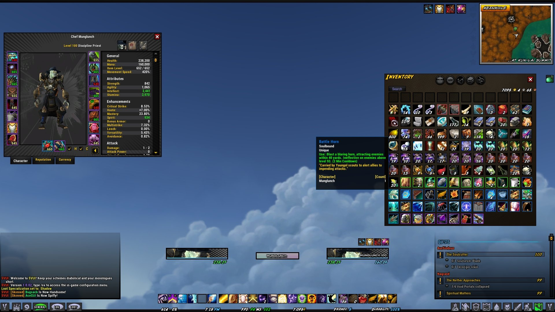 SuperVillain UI : Suites : World of Warcraft AddOns