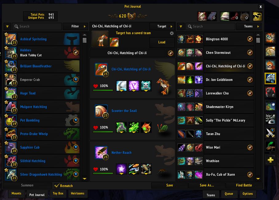 Rematch ElvUI Skin : Mounts & Pets : World of Warcraft AddOns