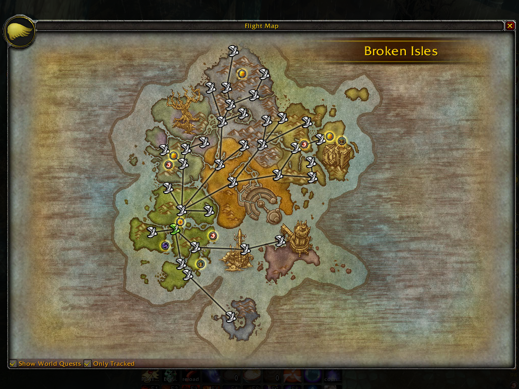 Legion World Map.World Quest Tracker Map Coords Compasses World Of Warcraft Addons
