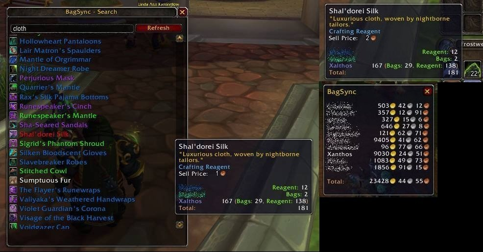 BagSync : Bags, Bank, Inventory : World of Warcraft AddOns