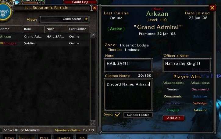 Guild Roster Manager : Group, Guild & Friends : World of Warcraft AddOns