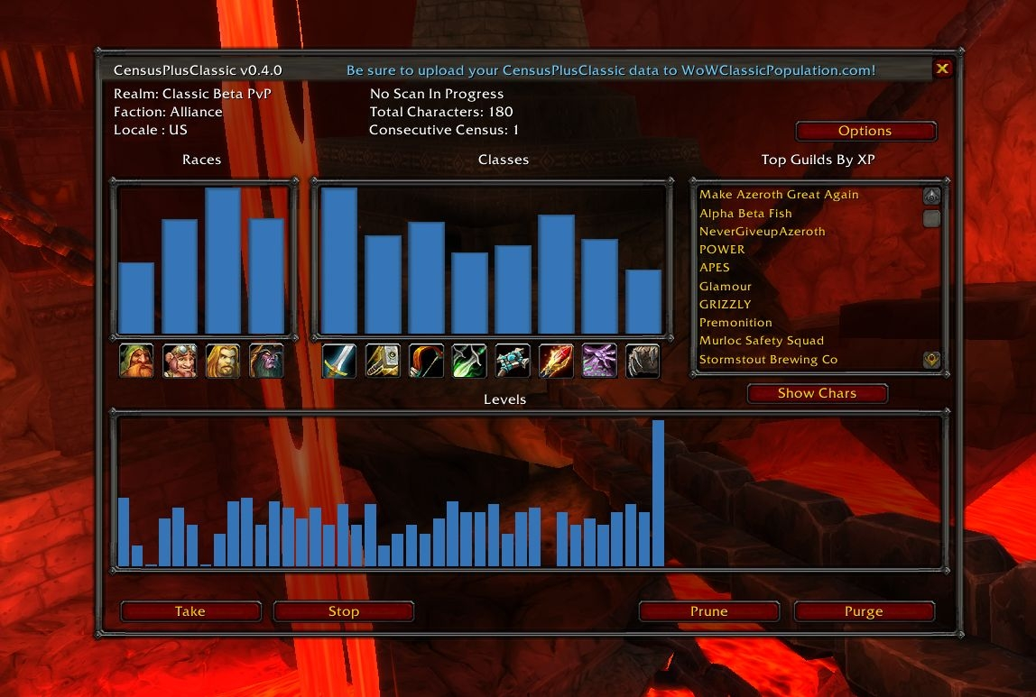 CensusPlusClassic : Data Broker : World of Warcraft AddOns