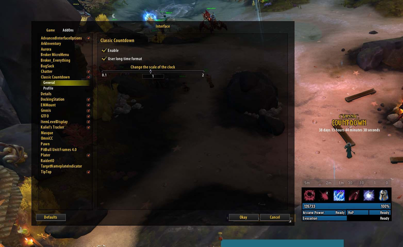 Classic Countdown : Utility Mods : World of Warcraft AddOns